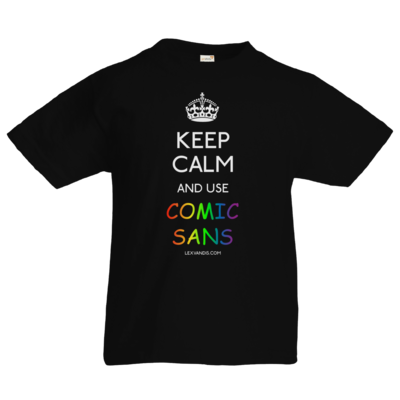 Motiv: Kids T-Shirt Premium FAIR WEAR - Keep Calm Comic Sans