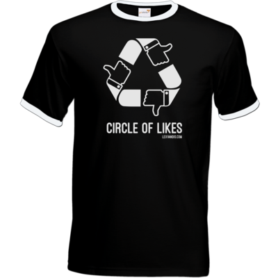 Motiv: T-Shirt Ringer - Circle of Likes