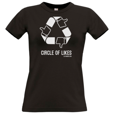 Motiv: T-Shirt Damen Premium FAIR WEAR - Circle of Likes