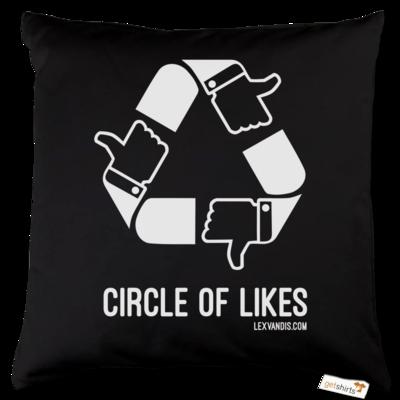 Motiv: Kissen Baumwolle - Circle of Likes