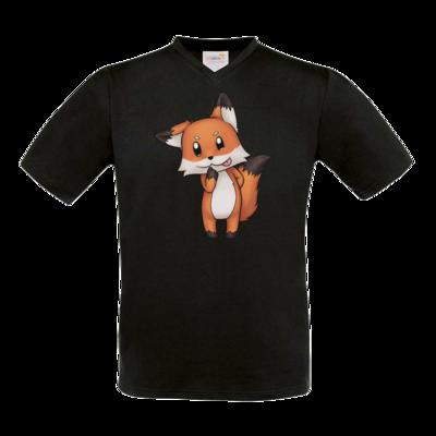 Motiv: T-Shirt V-Neck FAIR WEAR - Syrenia - Fox 1