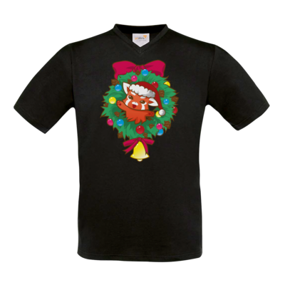 Motiv: T-Shirt V-Neck FAIR WEAR - Syrenia - Christmas