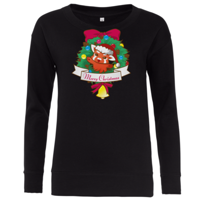 Motiv: Girlie Crew Sweatshirt - Syrenia - Merry Christmas
