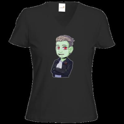Motiv: T-Shirts Damen V-Neck FAIR WEAR - Shizzy_Horror