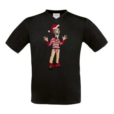 Motiv: T-Shirt V-Neck FAIR WEAR - Weihnachten