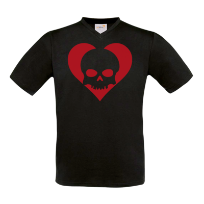 Motiv: T-Shirt V-Neck FAIR WEAR - Piratenherz