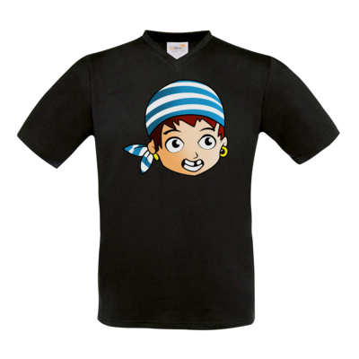 Motiv: T-Shirt V-Neck FAIR WEAR - Matrose