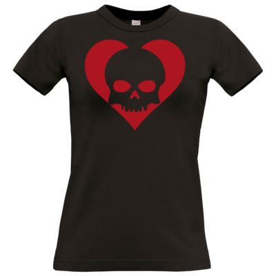 Motiv: T-Shirt Damen Premium FAIR WEAR - Piratenherz