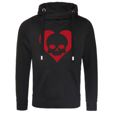 Motiv: Cross Neck Hoodie - Piratenherz