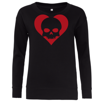 Motiv: Girlie Crew Sweatshirt - Piratenherz