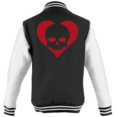 Motiv: College Jacke - Piratenherz