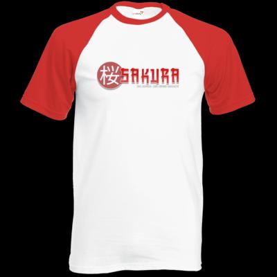 Motiv: Baseball-T FAIR WEAR - Sakura Logo