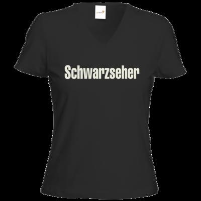 Motiv: T-Shirts Damen V-Neck FAIR WEAR - Schwarzseher
