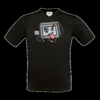 Motiv: T-Shirt V-Neck FAIR WEAR - TV kaputt