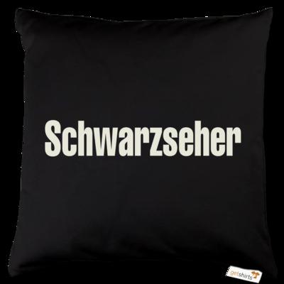Motiv: Kissen Baumwolle - Schwarzseher