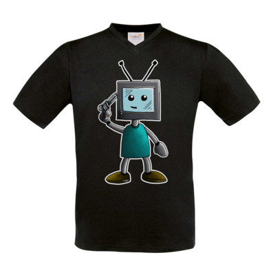 Motiv: T-Shirt V-Neck FAIR WEAR - TV Man