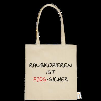 Motiv: Baumwolltasche - Raubkopieren ist AIDS sicher