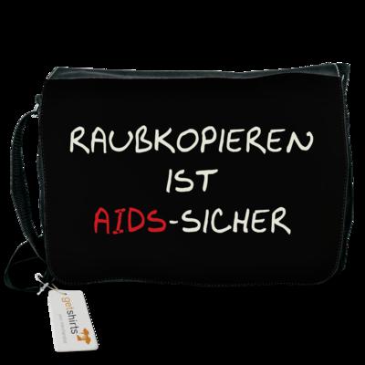Motiv: Schultertasche - Raubkopieren ist AIDS sicher