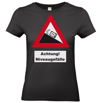 Motiv: T-Shirt Damen Premium FAIR WEAR - Achtung Niveaugefaelle