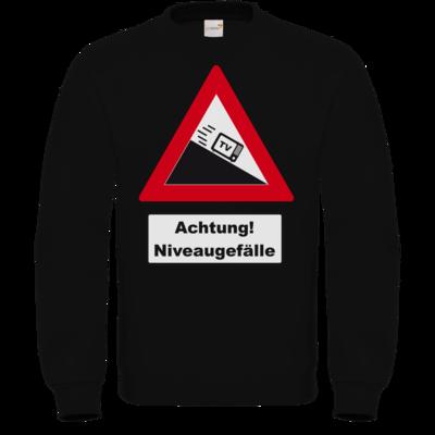 Motiv: Sweatshirt FAIR WEAR - Achtung Niveaugefaelle