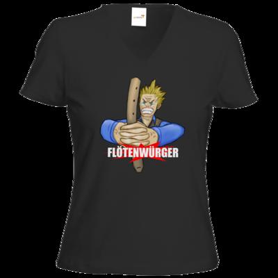 Motiv: T-Shirts Damen V-Neck FAIR WEAR - Floetenwuerger