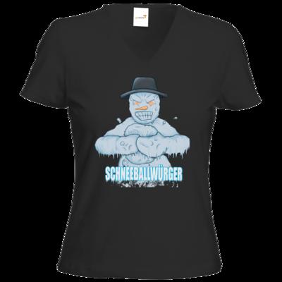 Motiv: T-Shirts Damen V-Neck FAIR WEAR - Schneeballwuerger