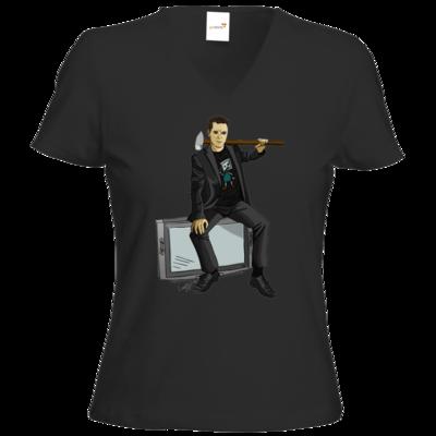 Motiv: T-Shirts Damen V-Neck FAIR WEAR - Holger - Hammermann