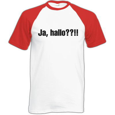 Motiv: Baseball-T FAIR WEAR - ja hallo