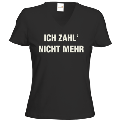 Motiv: T-Shirts Damen V-Neck FAIR WEAR - ich zahl nicht mehr