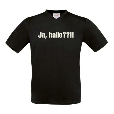 Motiv: T-Shirt V-Neck FAIR WEAR - ja hallo