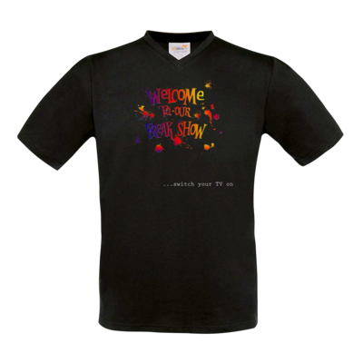 Motiv: T-Shirt V-Neck FAIR WEAR - Freakshow