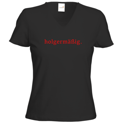 Motiv: T-Shirts Damen V-Neck FAIR WEAR - Holgermaessig
