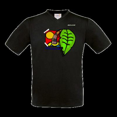 Motiv: T-Shirt V-Neck FAIR WEAR - Palmenbaumblatt