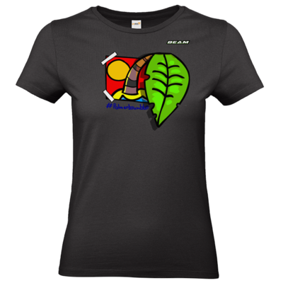 Motiv: T-Shirt Damen Premium FAIR WEAR - Palmenbaumblatt