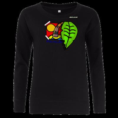 Motiv: Girlie Crew Sweatshirt - Palmenbaumblatt