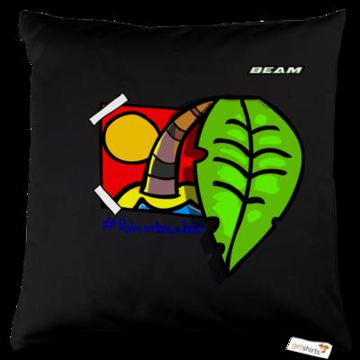 Motiv: Kissen Baumwolle - Palmenbaumblatt
