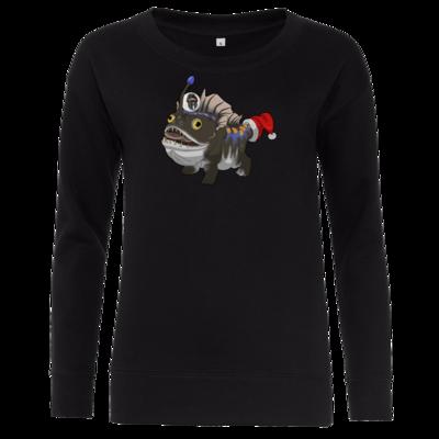 Motiv: Girlie Crew Sweatshirt - BEAM X-Mas Bulbdog