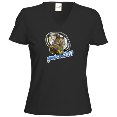 Motiv: T-Shirt Damen V-Neck Classic - Kaddi Luneth Gamescom 2017