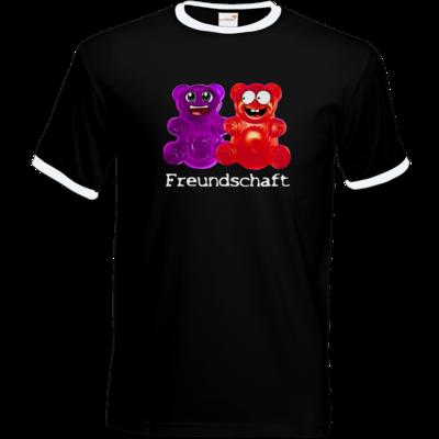 Motiv: T-Shirt Ringer - Lucky - Freundschaft