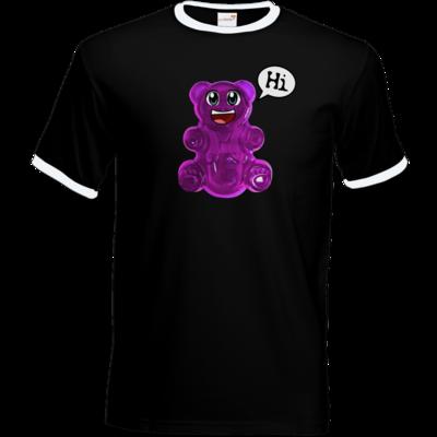 Motiv: T-Shirt Ringer - Lucky - Logo Maedchen