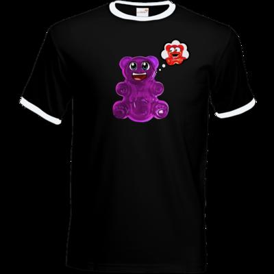 Motiv: T-Shirt Ringer - Lucky - Maedchen