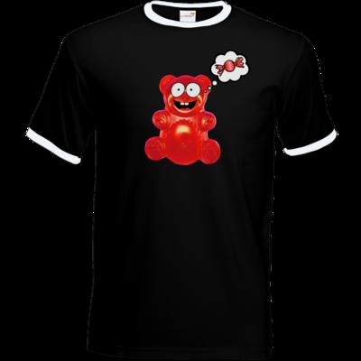 Motiv: T-Shirt Ringer - Lucky - Candy