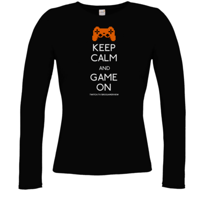 Motiv: Longsleeve Damen FAIR WEAR - Keep Calm Game On