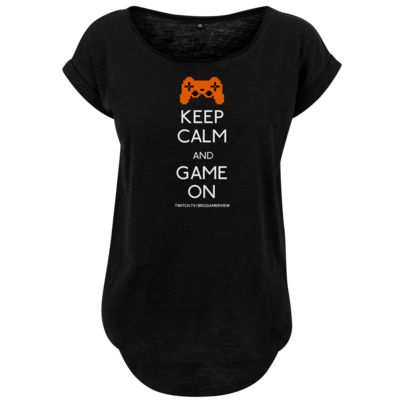Motiv: Ladies Long Slub Tee - Keep Calm Game On