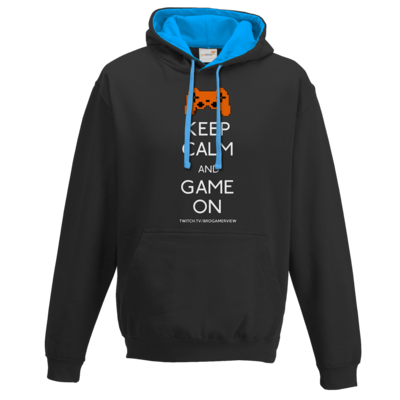 Motiv: Two-Tone Hoodie - Keep Calm Game On