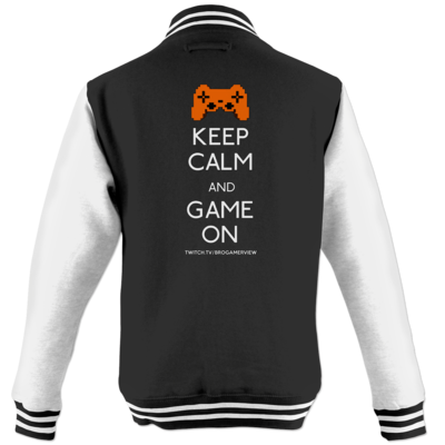 Motiv: College Jacke - Keep Calm Game On