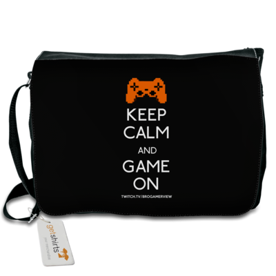 Motiv: Schultertasche - Keep Calm Game On