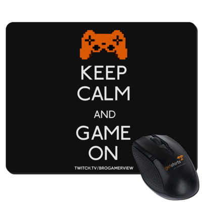 Motiv: Mousepad Textil - Keep Calm Game On