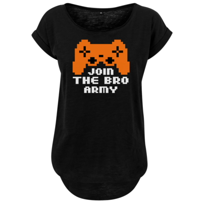 Motiv: Ladies Long Slub Tee - Join the Bro Army