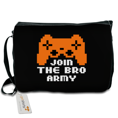 Motiv: Schultertasche - Join the Bro Army